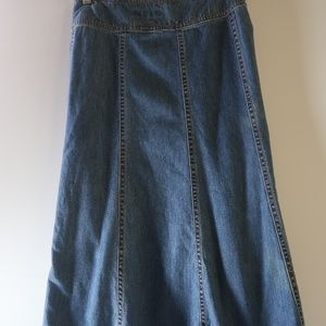 LIZ CLAIBORNE Denim A Line Panel Modesty Skirt